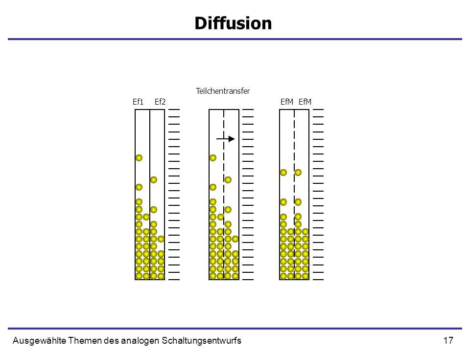 Diffusion Ausgewählte Themen des analogen Schaltungsentwurfs