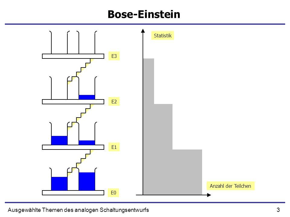 Bose-Einstein Ausgewählte Themen des analogen Schaltungsentwurfs