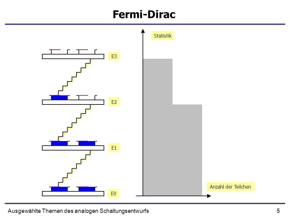 Fermi-Dirac Ausgewählte Themen des analogen Schaltungsentwurfs