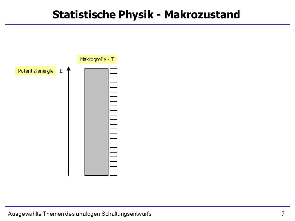 Statistische Physik - Makrozustand
