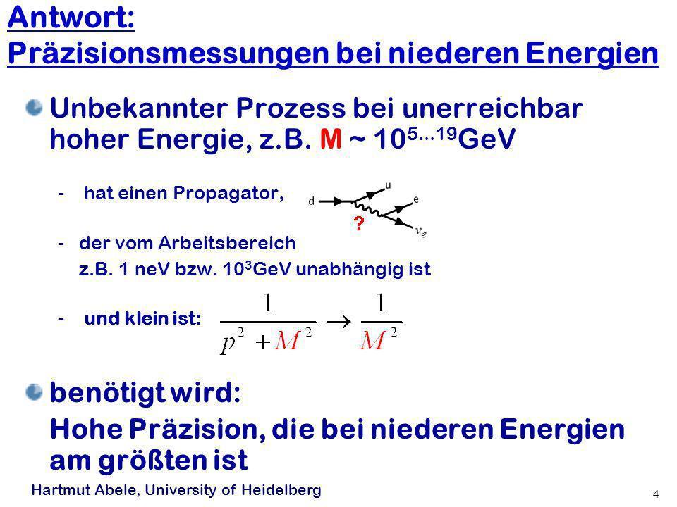 Antwort: Präzisionsmessungen bei niederen Energien