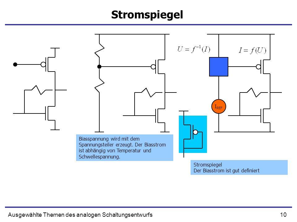 Stromspiegel Ausgewählte Themen des analogen Schaltungsentwurfs IREF