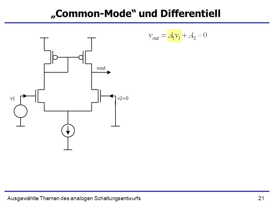 """Common-Mode und Differentiell"