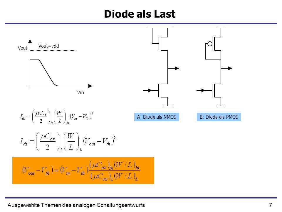 Diode als Last Ausgewählte Themen des analogen Schaltungsentwurfs