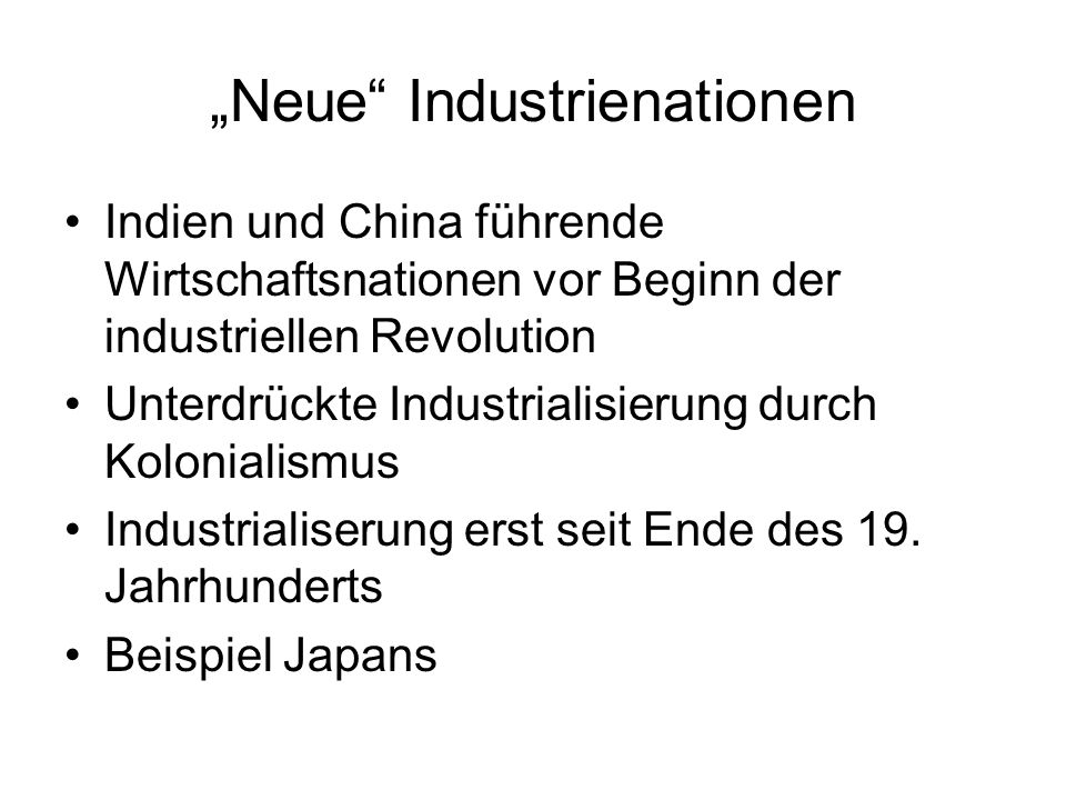 """Neue Industrienationen"