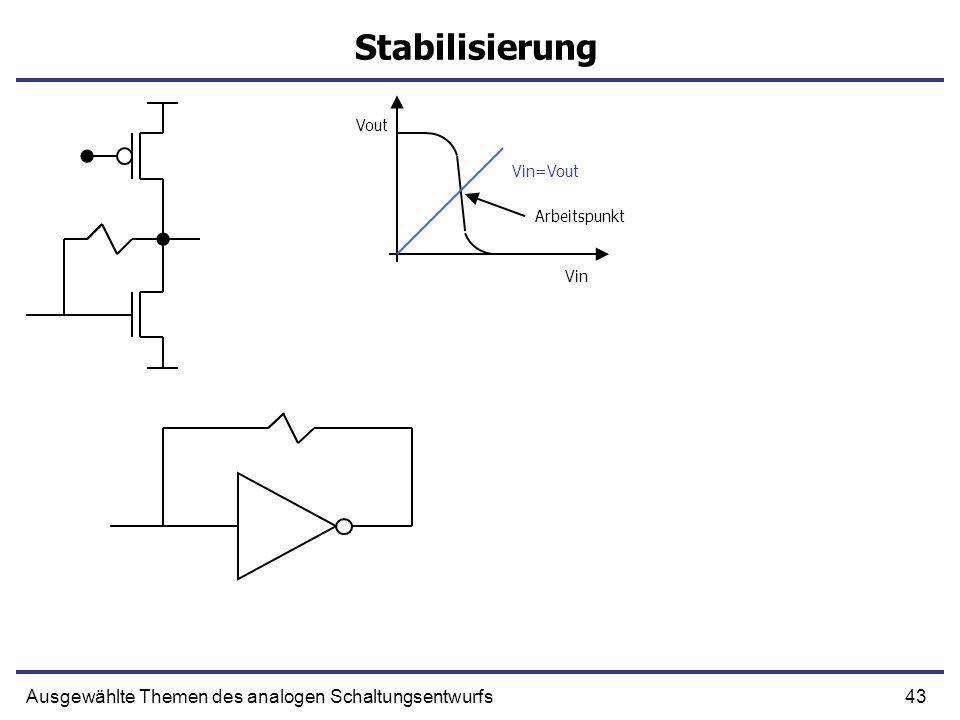 Stabilisierung Ausgewählte Themen des analogen Schaltungsentwurfs Vout