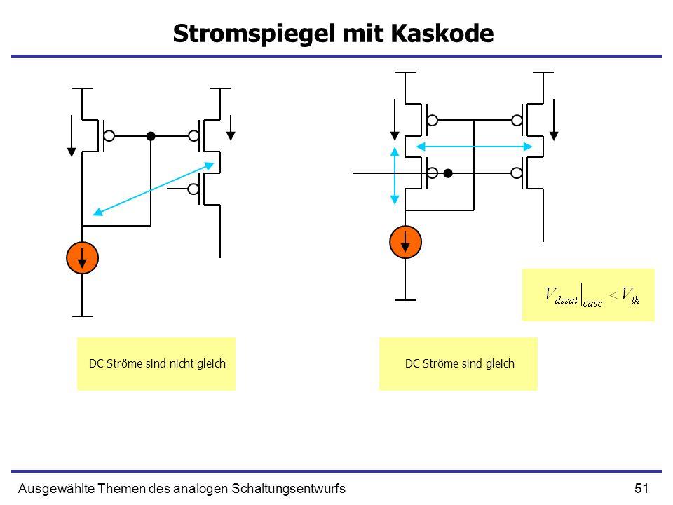 Stromspiegel mit Kaskode