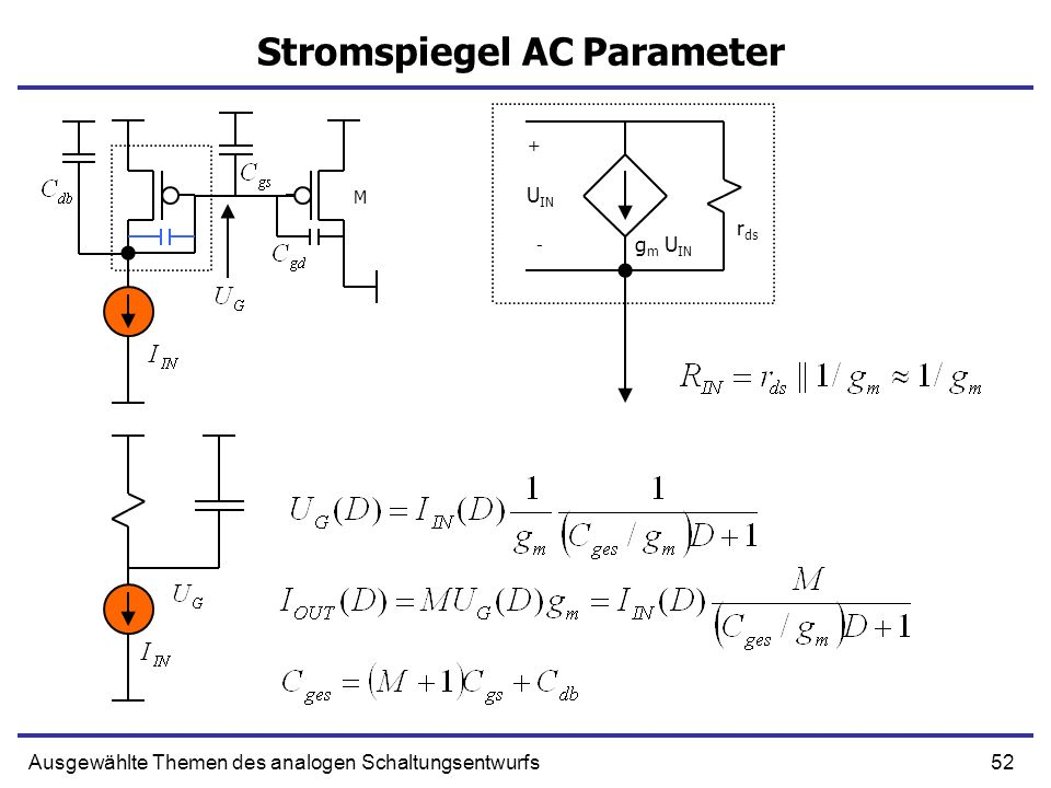 Stromspiegel AC Parameter