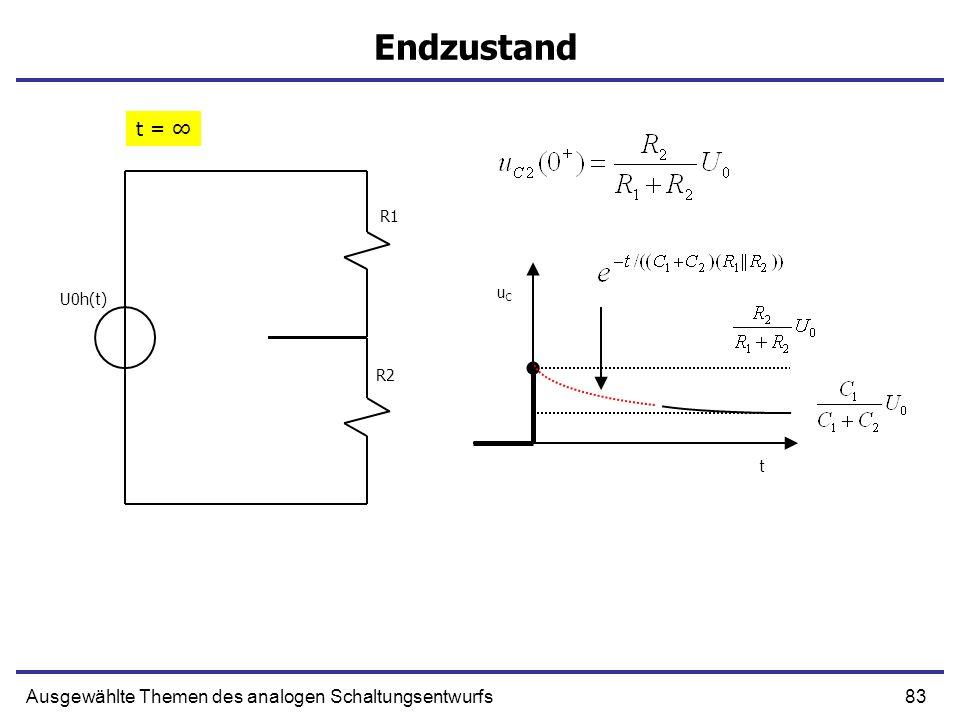 Endzustand t = ∞ Ausgewählte Themen des analogen Schaltungsentwurfs R1