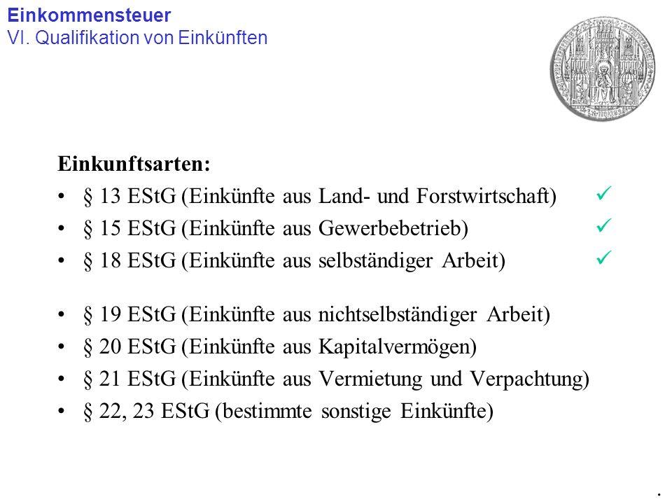 § 13 EStG (Einkünfte aus Land- und Forstwirtschaft) 