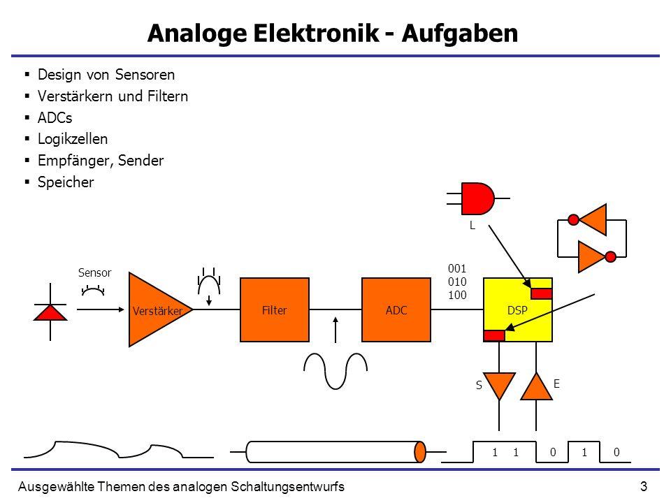 Analoge Elektronik - Aufgaben