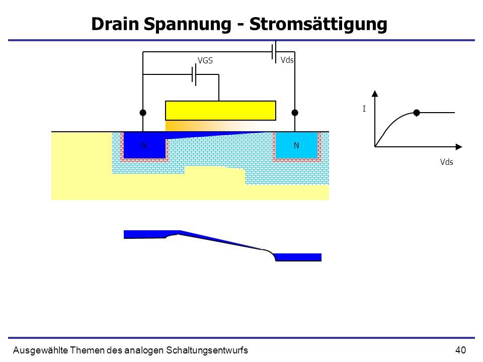 Drain Spannung - Stromsättigung