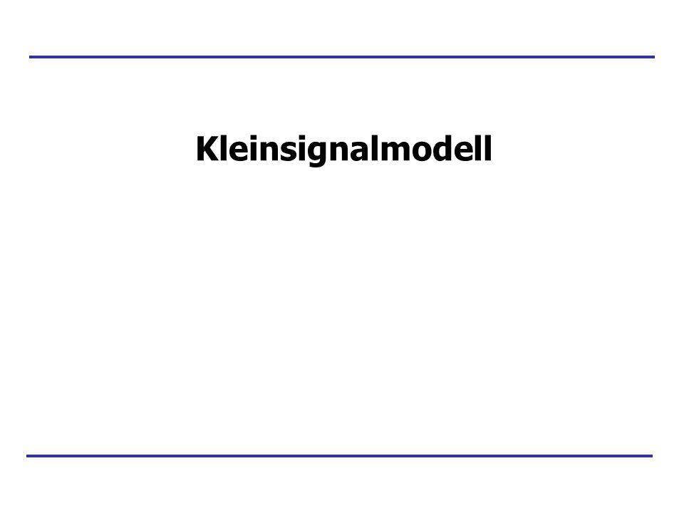 Kleinsignalmodell