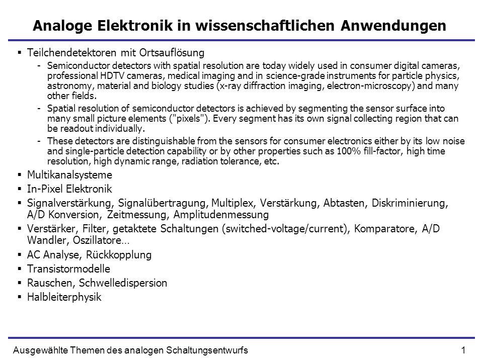 Analoge Elektronik in wissenschaftlichen Anwendungen