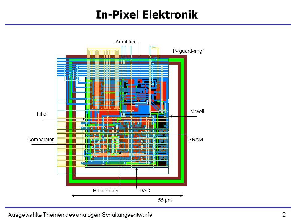 In-Pixel Elektronik Ausgewählte Themen des analogen Schaltungsentwurfs