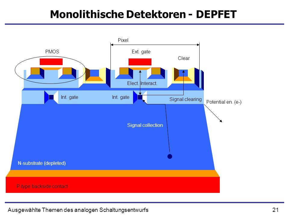 Monolithische Detektoren - DEPFET