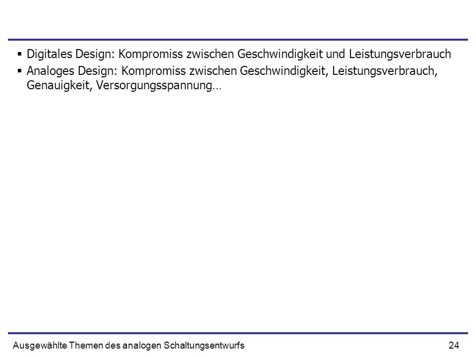 Digitales Design: Kompromiss zwischen Geschwindigkeit und Leistungsverbrauch