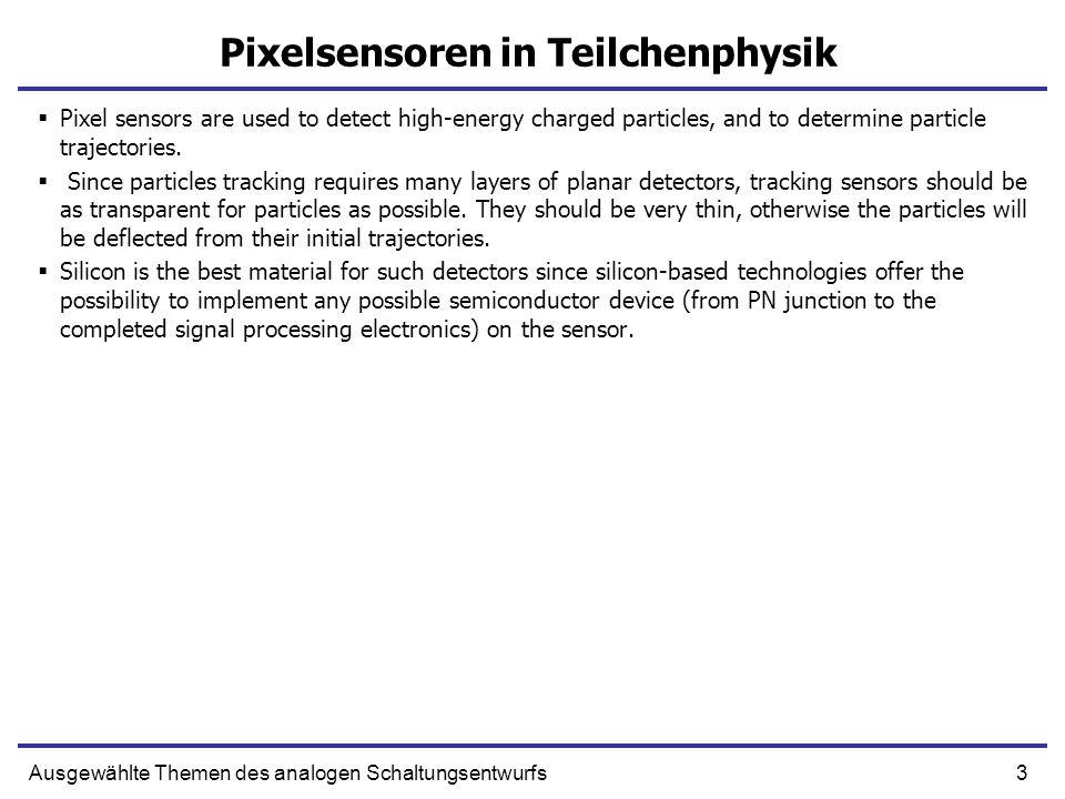 Pixelsensoren in Teilchenphysik