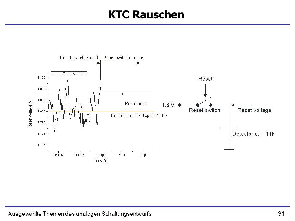 KTC Rauschen Ausgewählte Themen des analogen Schaltungsentwurfs