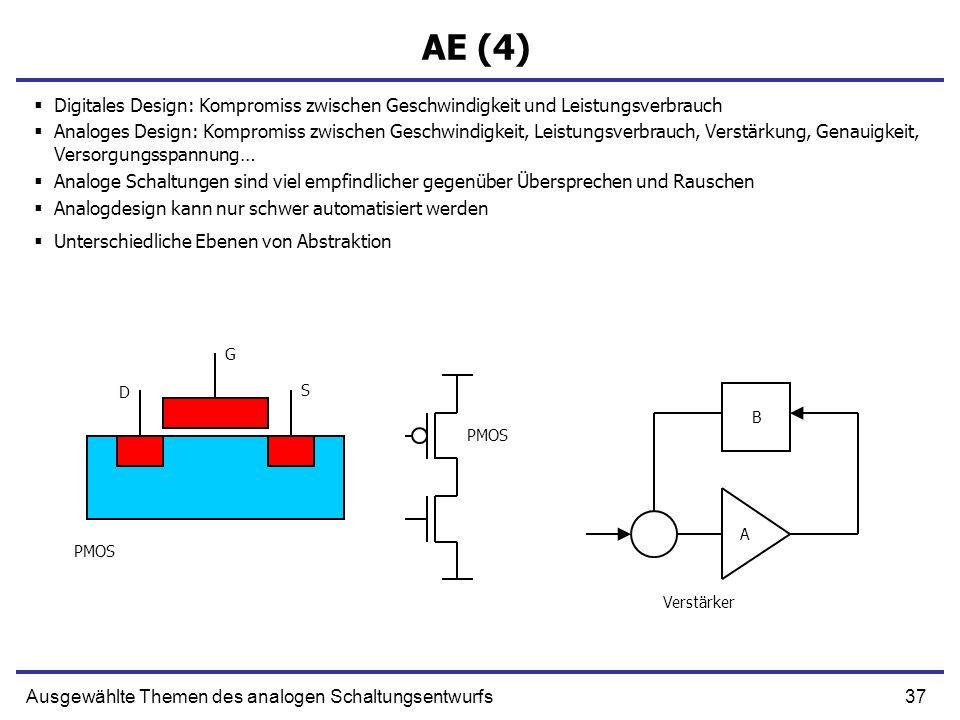 AE (4) Digitales Design: Kompromiss zwischen Geschwindigkeit und Leistungsverbrauch.