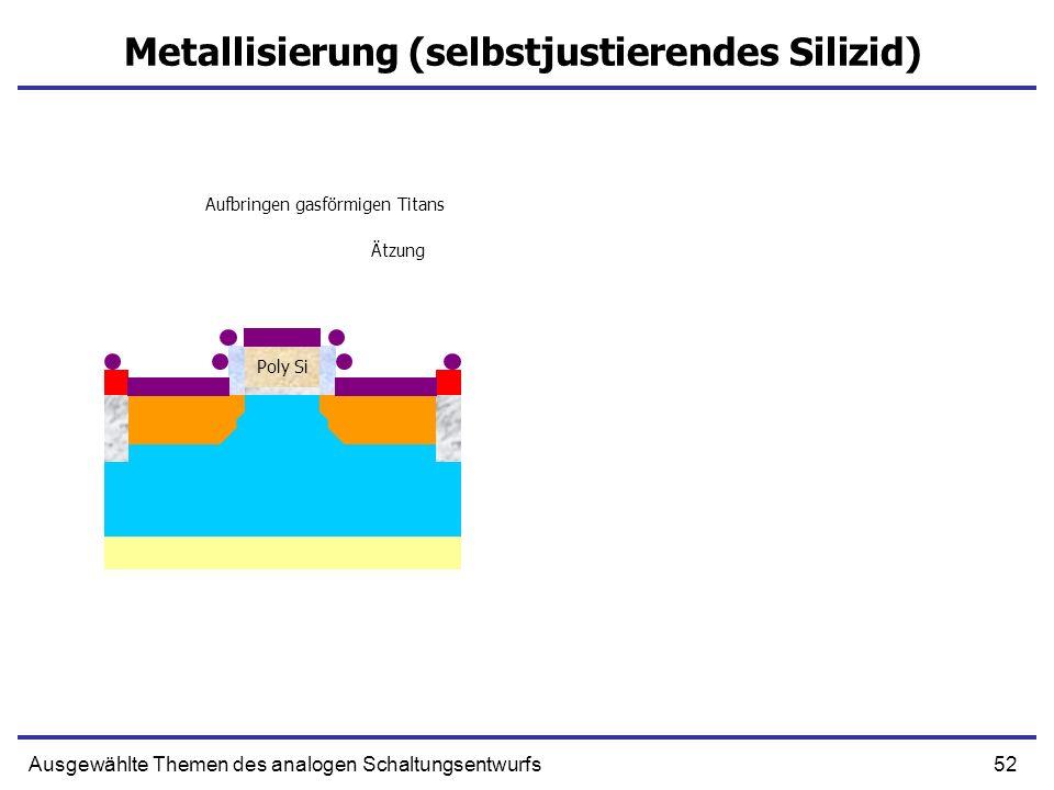 Metallisierung (selbstjustierendes Silizid)