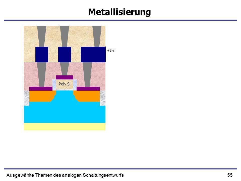 Metallisierung Ausgewählte Themen des analogen Schaltungsentwurfs