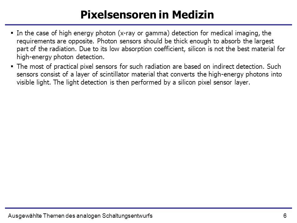 Pixelsensoren in Medizin