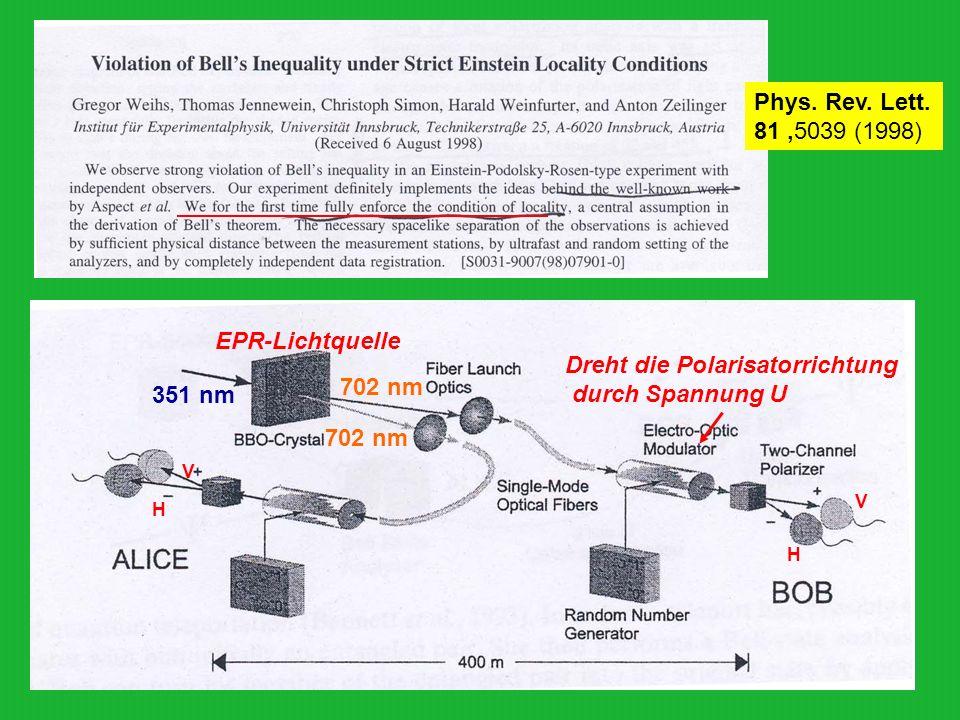 Dreht die Polarisatorrichtung durch Spannung U 702 nm 351 nm