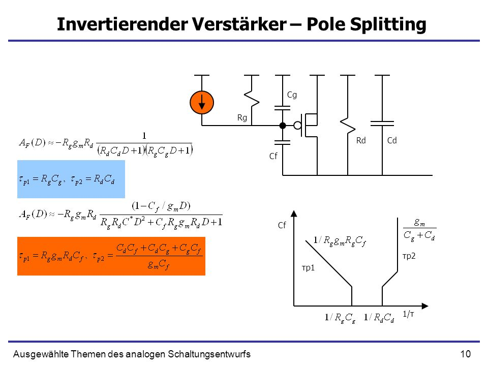 Invertierender Verstärker – Pole Splitting