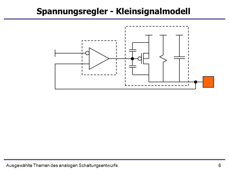 Spannungsregler - Kleinsignalmodell