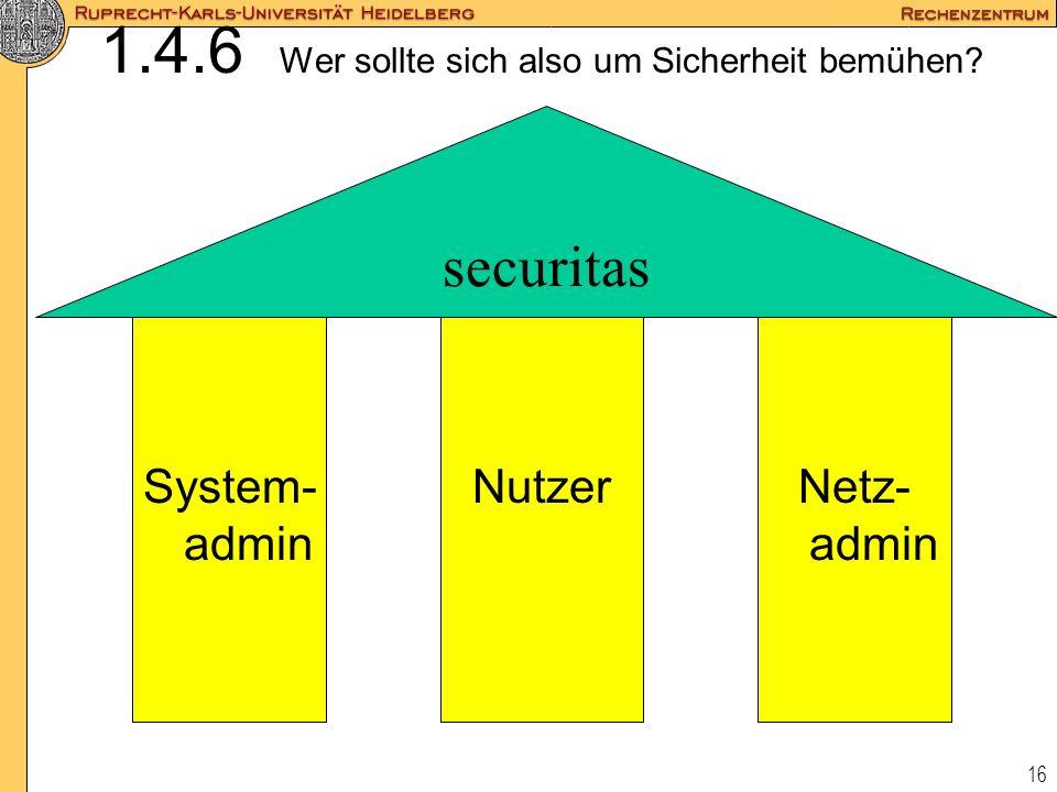 1.4.6 Wer sollte sich also um Sicherheit bemühen