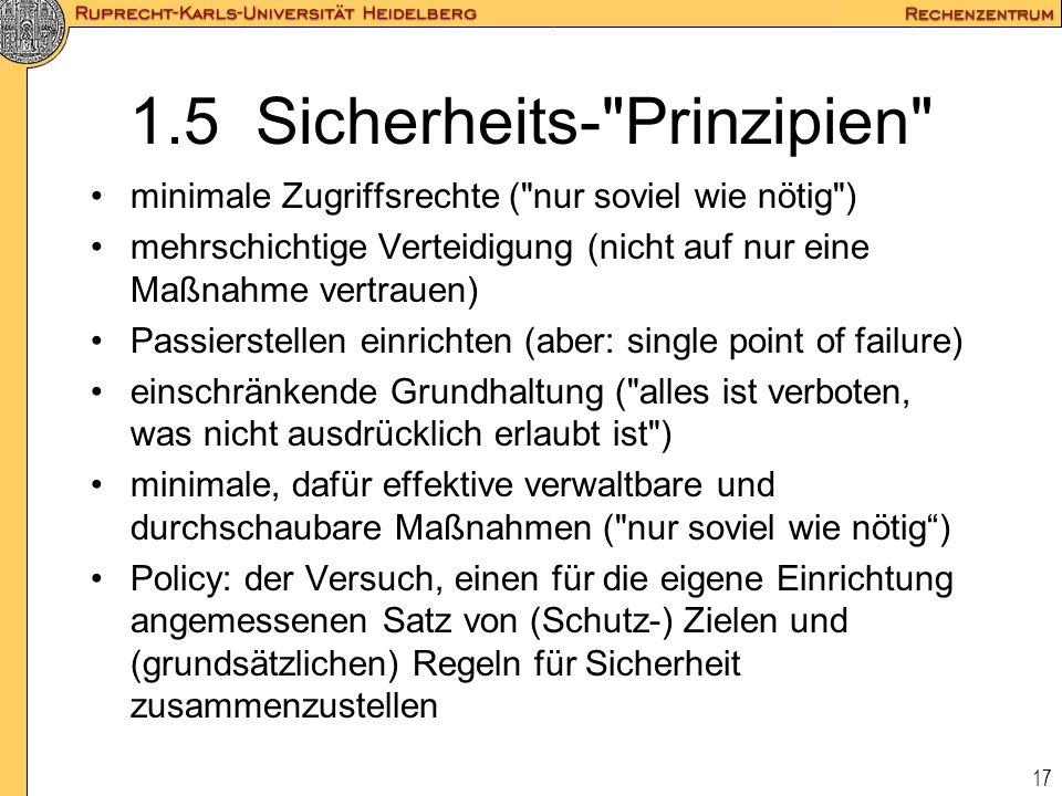 1.5 Sicherheits- Prinzipien