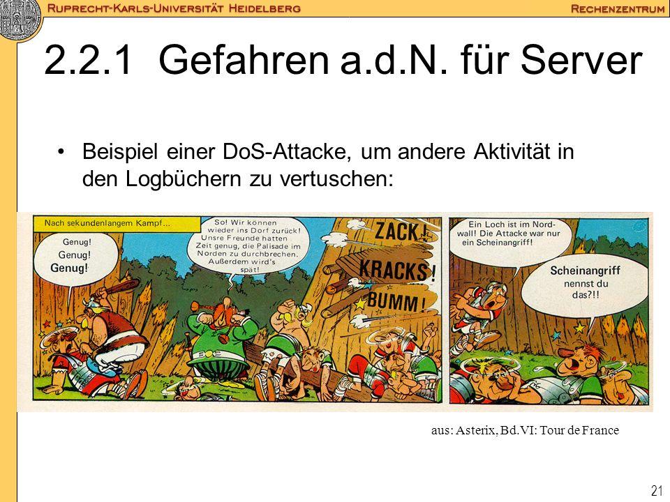 2.2.1 Gefahren a.d.N. für Server
