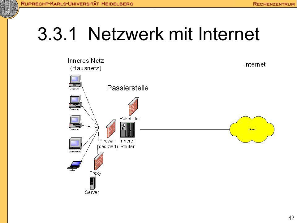 3.3.1 Netzwerk mit Internet Passierstelle