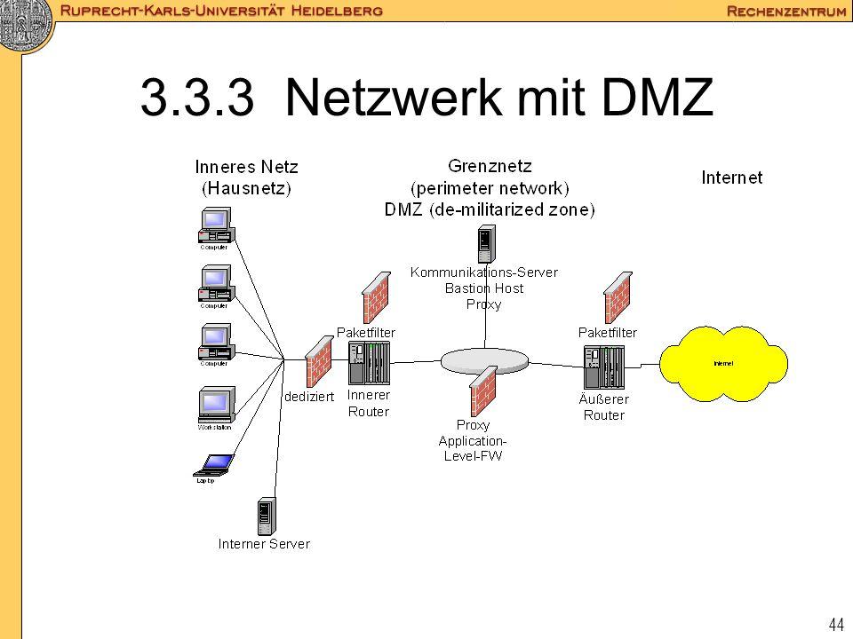 3.3.3 Netzwerk mit DMZ