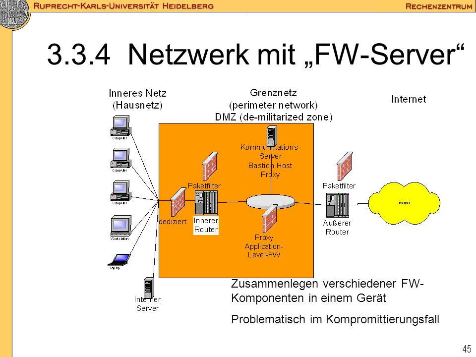 """3.3.4 Netzwerk mit """"FW-Server"""