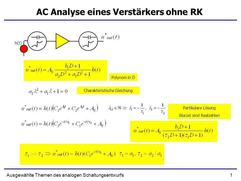 AC Analyse eines Verstärkers ohne RK