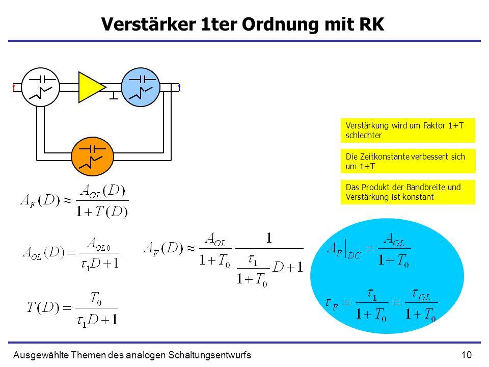 Verstärker 1ter Ordnung mit RK