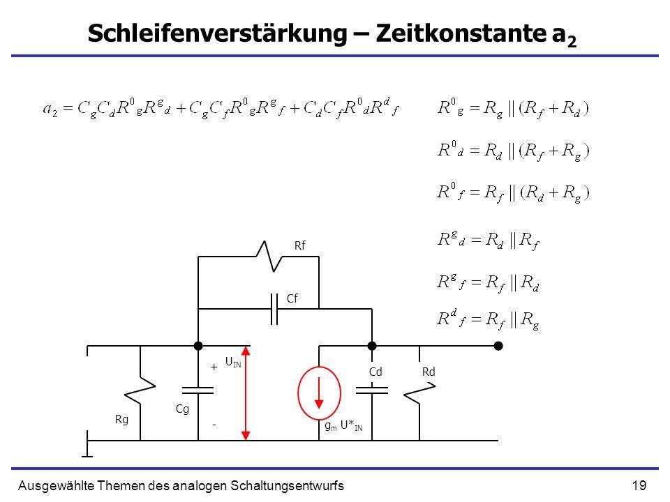 Schleifenverstärkung – Zeitkonstante a2
