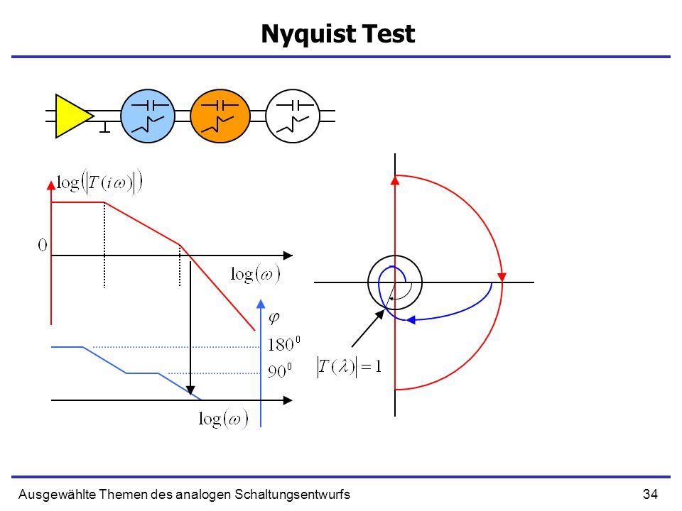 Nyquist Test Ausgewählte Themen des analogen Schaltungsentwurfs