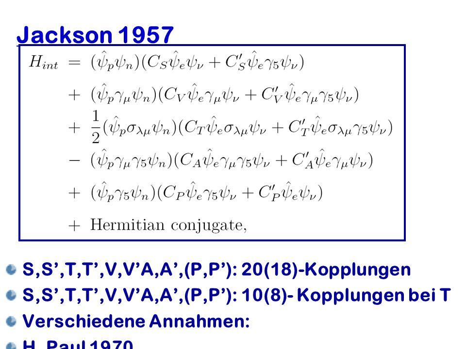 Jackson 1957 S,S',T,T',V,V'A,A',(P,P'): 20(18)-Kopplungen
