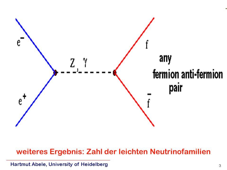 weiteres Ergebnis: Zahl der leichten Neutrinofamilien