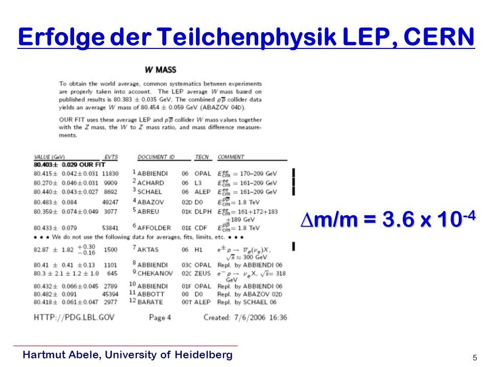 Erfolge der Teilchenphysik LEP, CERN