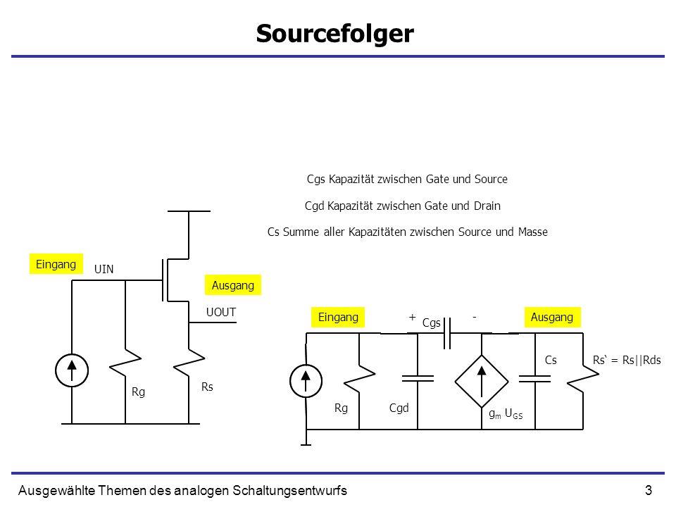 Sourcefolger Ausgewählte Themen des analogen Schaltungsentwurfs