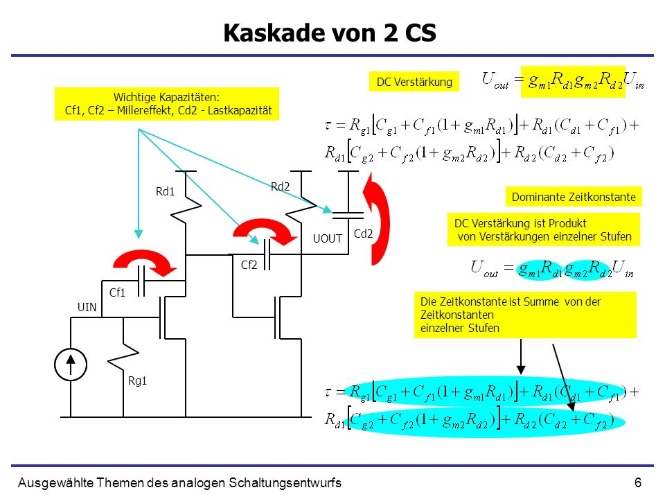 Kaskade von 2 CS Ausgewählte Themen des analogen Schaltungsentwurfs