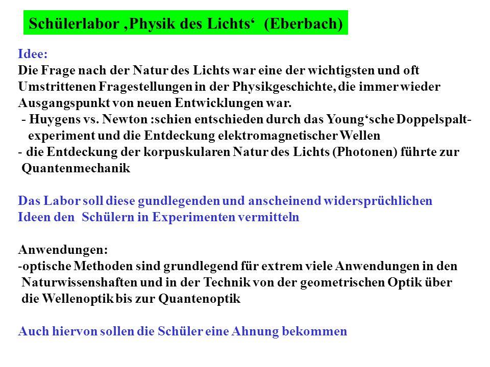 Schülerlabor 'Physik des Lichts' (Eberbach)