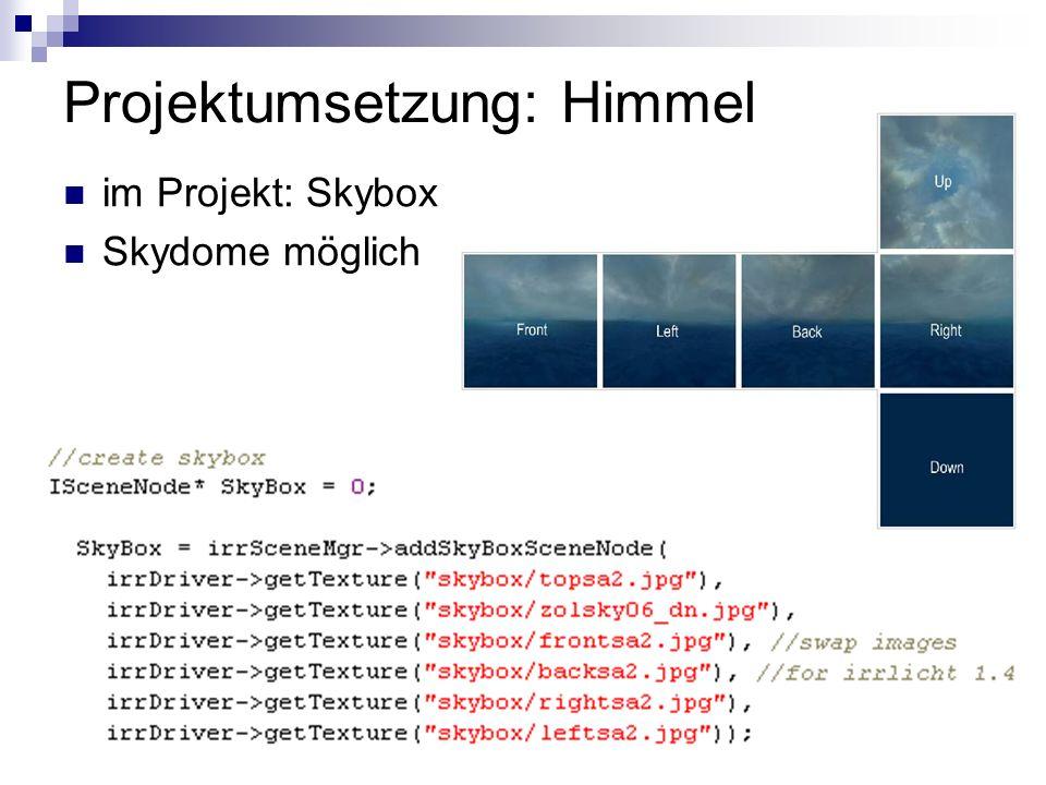 Projektumsetzung: Himmel