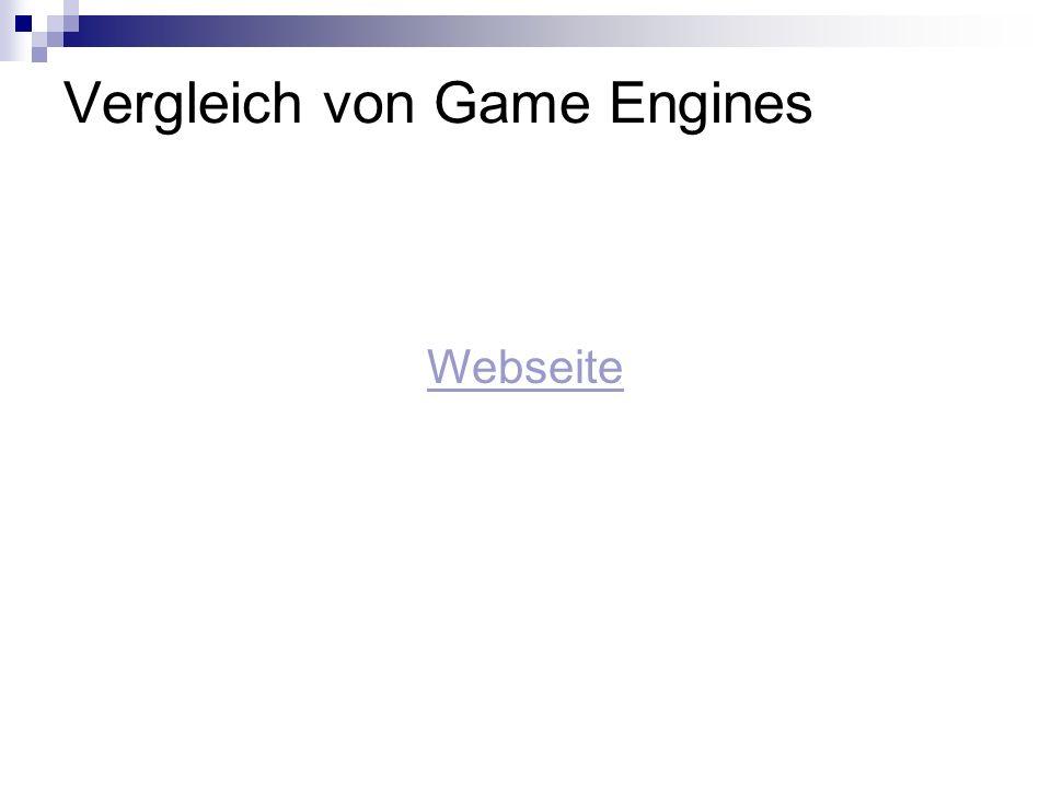 Vergleich von Game Engines