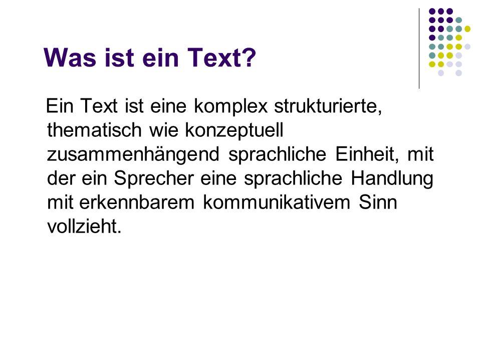 Was ist ein Text