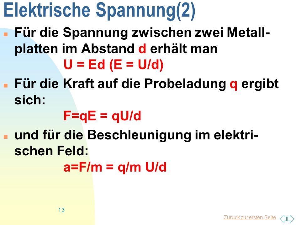 Elektrische Spannung(2)